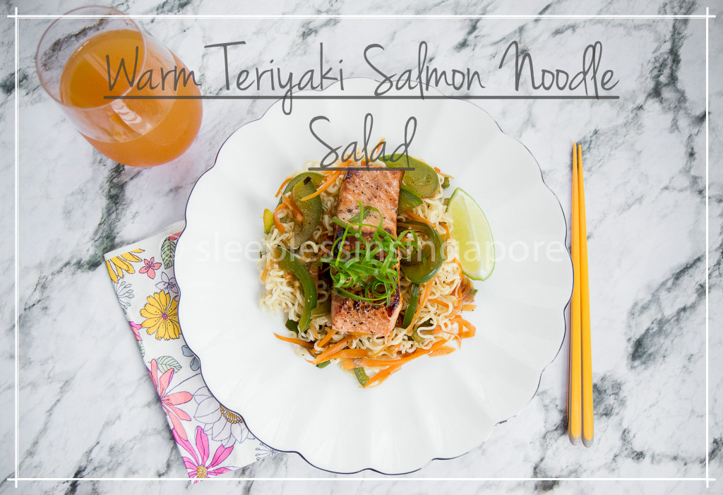 Warm Teriyaki Salmon Noodle Salad