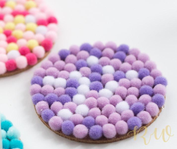 Pom-Pom Coasters DIY