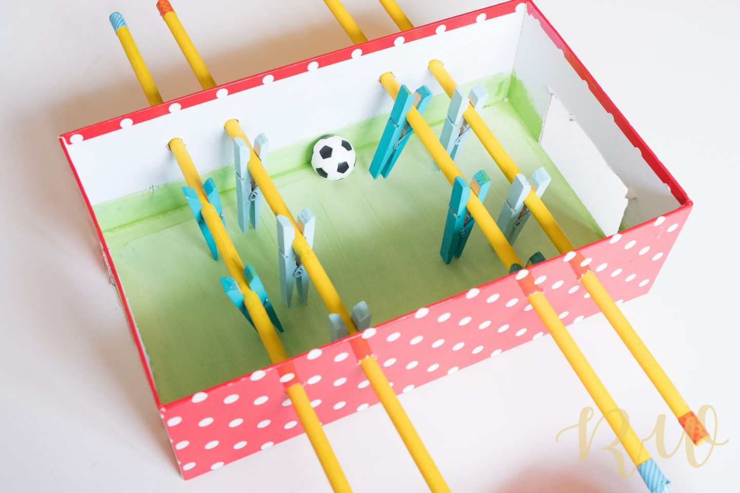 DIY Mini Foosball Table for Kids