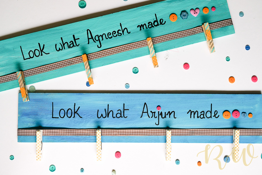 DIY Display Board for those little Artists